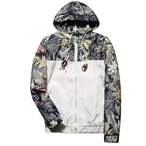 WALK-LEADER - Sweat-shirt à capuche - Personnage - Col Rond - Manches Longues - Homme - blanc - X-Large