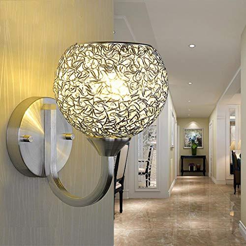 Moderne Aluminium Wandleuchte für Kopfteil Schlafzimmer Nachttisch Veranda Bad Eitelkeit, 12 × 23,5 cm (Nicht Enthalten e27 Lichtquelle) -