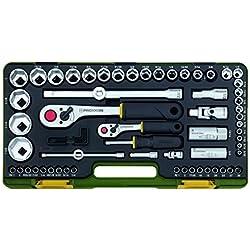 Proxxon 23294 Steckschlüsselsatz für zöllige Schraubengrößen, 65-teilig