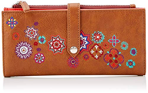 Desigual Damen Wallet Rep Nanit Pia Marron Geldbörse, Braun, 1.5x9.5x19.5 cm