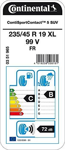 Autovetture B//B//72dB CONTINENTAL ContiEcoContact 5  XL 235//55//19 105V Pneumatico Estivi