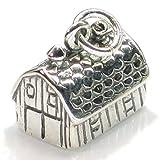 Fienile in argento Sterling ciondolo .925x 1Ciondoli fabbricati agricoli dkc36233