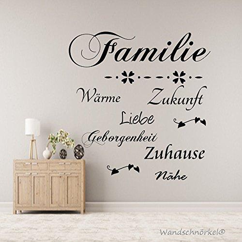 Familie Wandtattoo,Liebe Geborgenheit...Diele,Flur,Wohnzimmer,Spruch (60cm x 47cm)