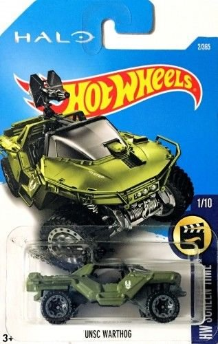 Toys Hot Halo (Hot Wheels 2017 HW Screen Time Halo UNSC Warthog Green 2/365 (Long Card))