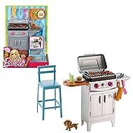 Barbie - mobili da giardino - Outdoor Grill Set & Accessori