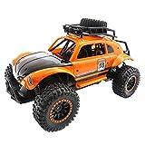 DingLong 25km/h Ferngesteuertes Auto,1/14 Maßstab RC Auto 2.4Ghz Ferngesteuertes Hochgeschwindigkeits-Kletterauto Auto Rennwagen Fahrzeug Spielzeug Funkgesteuert Auto (Orange)