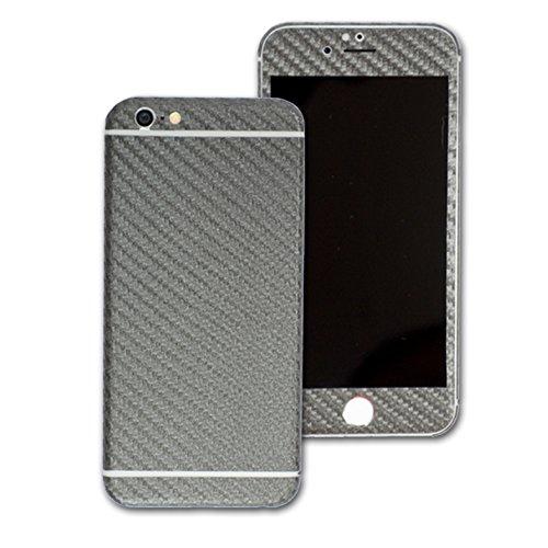 3D texturierte Kohlefaser Skin Wrap Aufkleber Aufkleber Cover Displayschutzfolie für Apple iPhone 6Plus 14cm (Carbon Apple-aufkleber Fiber)