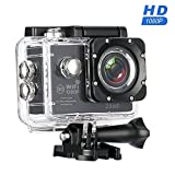 MixMart 1080P Action Kamera WIFI Sports Cam Kamera Ultra Full HD Wasserdichte Helmkamera mit 2...