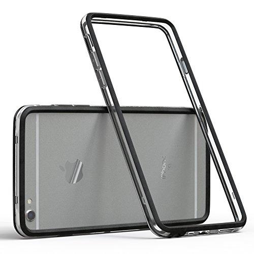 EAZY CASE Bumper für iPhone 6 / iPhone 6S Silikon Bumper für Apple iPhone 6 / 6S - Flexible Schutzhülle ALS Rahmenschutz in Schwarz (Apple Iphone Bumper)