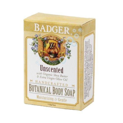 Badger Botanical Body Soap Unscented --