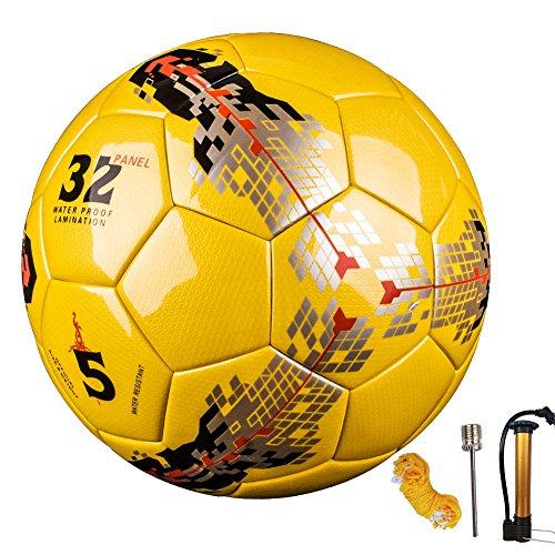 Senston Perfect Wasserdicht Fußball Ball Professional Team Training Ball Sport Herren Fußbälle Enthält Netzbeutel / Gasnadel / Luftpumpe,Official Größe 5