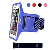 EOTW Sportarmband Handyhülle universell passend für iPhone 5/5s/SE, Ideal für Sport, Freizeit aber auch in der Arbeit praktisch zu verwenden (4,0 Zoll, Blau)