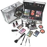 Super Ombre à paupières Maquillage avec valise en aluminium en relief Vanity 38tlg (E758)