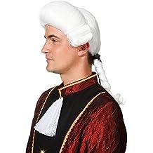 Medieval liche rococó peluca Mozart Blanco Barroco peluca Hombre rococó peluca Medieval peinado Outfit Disfraz