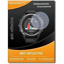 """4 x SWIDO® Protector de pantalla Garmin fenix 3 Saphir HR Protectores de pantalla de película """"AntiReflex"""" antideslumbrante"""