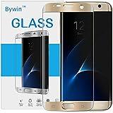 Bywin 3D Incurvé Protection écran en TPU pour Samsung Galaxy S7 Edge (Gold) Ultra-mince 0.2 mm Meilleur Film Protégé en Plastique de (Not Tempered Glass Screen Protector) (non vitre verre trempé )