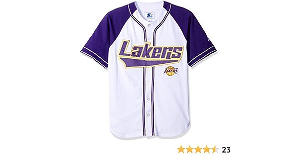 NBA Los Angeles Lakers Baseball Inspired Fashion Jersey, Small ...