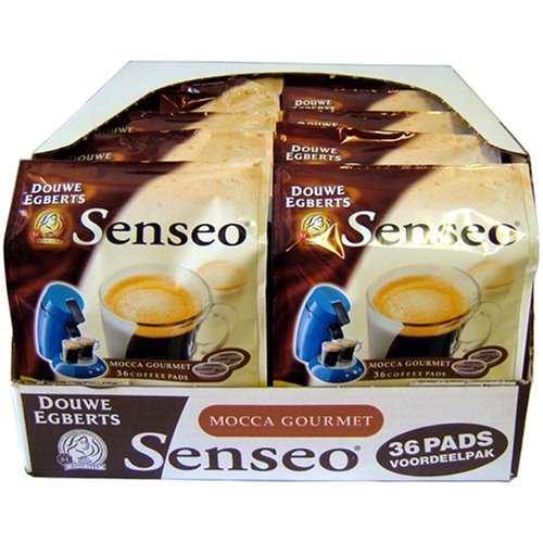 Douwe Egberts Senseo Mocca Gourmet Vorteilspack, 10 Packungen mit jeweils 36 Kaffeepads