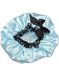 KINGSO Femme Bonnet Chapeau De Douche Bain Protection Soin Accessoire Cheveux Bleu