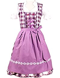 Trachtenkleid 3tlg. Kinder Dirndl Mädchen Kleid Gr. 86,92,104,110,116,122,128,134,140,146,152