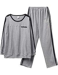 MEIXIA Conjuntos De Pijamas Ropa De Dormir Pijamas para Hombres Algodón De Manga Larga Primavera Y