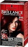 Brillance Intensiv-Color-Creme, 896 Schwarzrot Organdi, 3er Pack (3 x 1 Stück)
