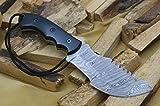 Custom Damast Bowie Messer Tracker Jagdmesser Mit Lederscheide