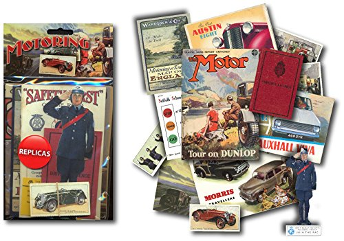 motoring-memorabilia-gift-pack-with-over-20-pieces-of-replica-artwork