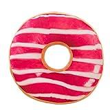Xinan Kissenbezug Soft Plüsch Kissen gefüllt Seat Pad Sweet Donut Foods Kissen Case Toys (40cm x 40cm x 12cm, H)