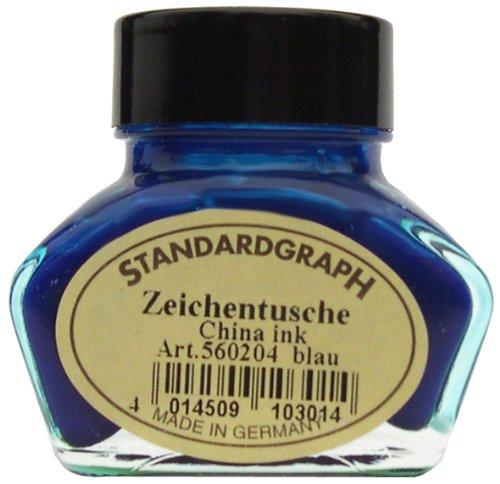 Tusche blau 30ml Glas