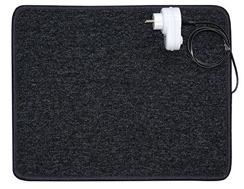 INROT Heiz Systeme Infrarot Teppichheizung mit 70 Watt Leistung, 40 x 50 cm, inklusive Dimmer, - Carbon Entflammbar X-schwer