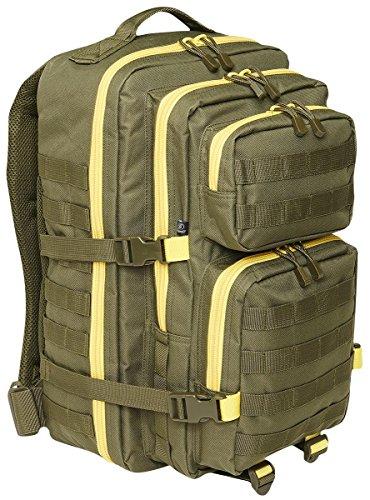 Brandit US Cooper Large Rucksack oliv/gelb