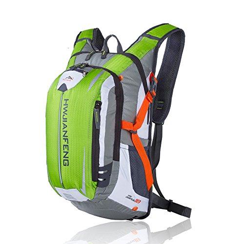 Asdomo zaino esterno arrampicata borsa viaggio escursionismo campeggio ciclismo caccia impermeabile borsa in nylon, Black Fruit Green