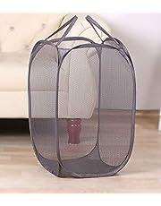 Kuber Industries Nylon Mesh Laundry Basket,20Ltr (Multi)-CTKTC21510