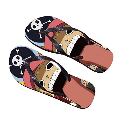 Bromeo One Piece Anime Unisex Flip Flops Zehentrenner Flip Pantoffeln 385