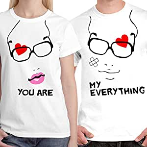 Buy limit fashion store you are my everything unisex for Buy couple t shirts online india