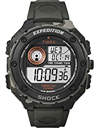 Timex Expedition Men's Digital Watch with LCD Dial Digital Display and Black Resin Strap T49981