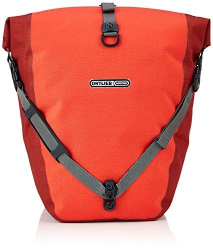 Ortlieb Erwachsene Gepäckträgertasche Back-Roller Plus QL2.1 Paar, Signalred/Dark Chili, 42 x 17 x 32 cm, 40 Liter