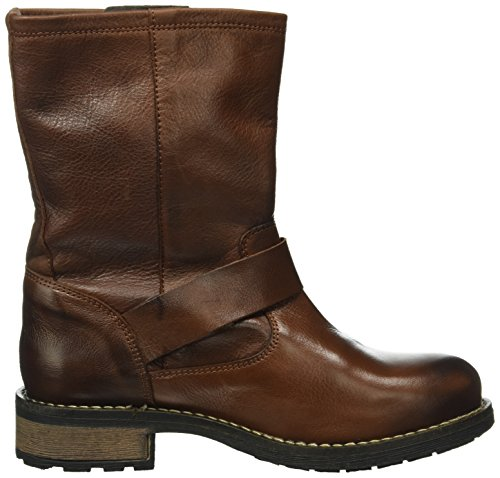 Buffalo London Damen 2515 Sauvage Biker Boots Braun (Brown 01)