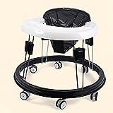 Kleinkinder/Kinder Baby Walker 6/7-18 Monate PP + PU Kissen Multifunktion Anti-Rollover Universalrad Hand Drücken Kann Sitzen Höhenverstellbar Faltbar Walker