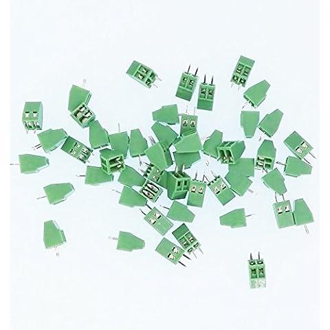 E-Simpo®50-Set blocco PCB a vite 2poli, passo da 2,54 mm,150V 6A, ELT128-2.54-2P