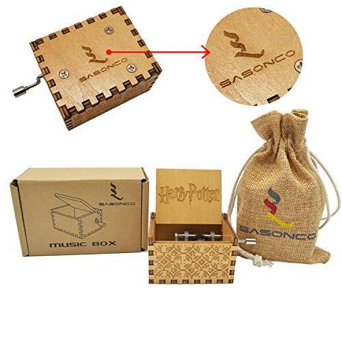 Youtoo Retro Holz Spieluhr Hand klassischen Handkurbel Musik Box für Geschenke (Harry Potter Melodie) -