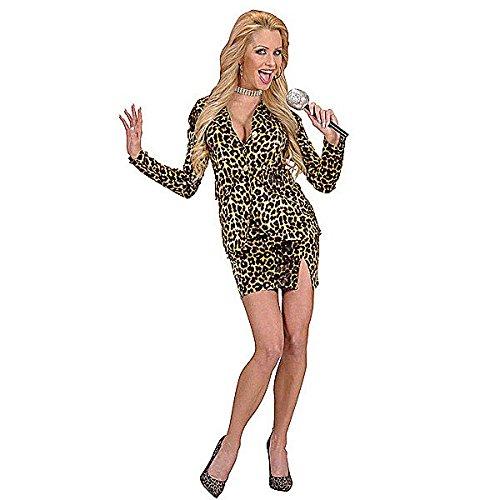 chsenenkostüm Pop Star im Leopardenlook, Größe XL (Tina Turner Kostüme Erwachsene)