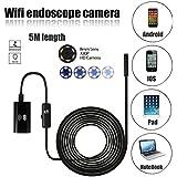 Endoscopio WiFi endoscopio 5 megapíxeles 6 megapíxeles 6 leds 8 mm 720p IP67 cámara impermeable de prueba de inspección para el iPhone 7/7 más 6s / 6s más, Samsung Galaxy s7 borde s6 Smartphone, AirBook, serie de Windows