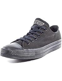 Converse - Converse Chuck Taylor All Star OX Low Schuhe All Black Mono Schwarz Chucks Schuhe Herren Damen