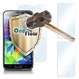 2x OneFlow 9H Panzerfolie für Samsung Galaxy S5 Panzerglas Display Glasfolie [Tempered Glass] Screen protector Glas Displayschutz-Folie für Samsung Galaxy S5 / S5 Neo Schutzfolie