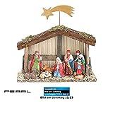 PEARL Weihnachts-Krippe (10-teilig) mit handbemalten Porzellan-Figuren