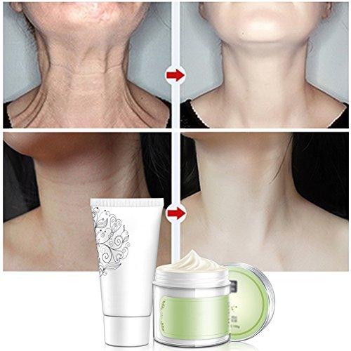 Anti-Falten-Whitening-feuchtigkeitsspendende nährende straffende Hals-Pflege-Set-Nacken-Maske + Hals-Creme - Anti-falten Nährende Creme