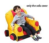 quwei Sofa Bett für Kinder Sessel Sitzsack Auto Cartoon Babys Komfortable Mini Sofa Zimmer- oder die Decke aus Stoff