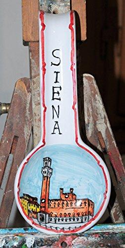 Siena-Suppenkelle keramik,handverzierte Keramik,Abmessungen cm 11,9x28,2x3,1 cm.Made in Italien dekoriert von Hand in Italien, Lucca